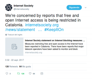 Internet Society statement on Internet blocking measures in Catalonia, Spain