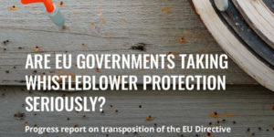 We contribute to WIN's report on the status of transposition of the Directive in defence of whistleblowers