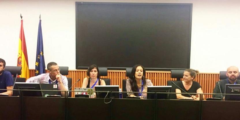 Rueda de prensa contra impunidad Santander y sus abusos en el mundo