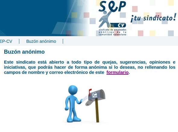 Buzón de quejas del Sindicato de Empleados Públicos de la Comunitat Valenciana