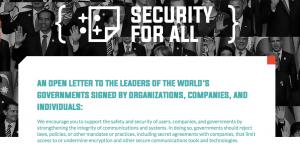 (Es) Carta a los gobiernos del mundo por un #encriptado y comunicaciones seguras