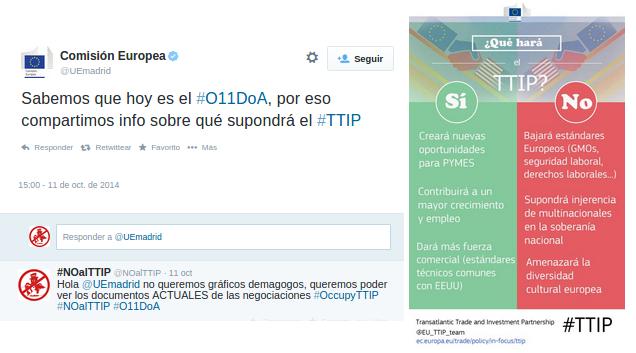 Intento de contra campaña de la UE en respuesta al #O11DoA