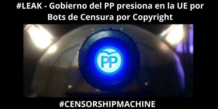 Gobierno del PP presiona en la UE por bots de censura por copyright