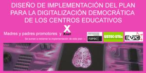 COMUNICADO – Reclamamos la digitalización democrática de los centros educativos de Cataluña