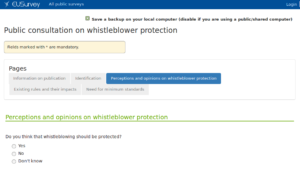 Xnet answers on European Commission consultation for protection of whistleblowers