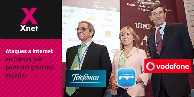 Pilar del Castilo, PP, Vodafone y Telefónica contra Internet