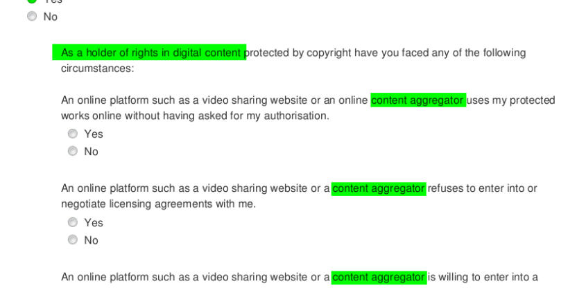 Only Rights Holders - Ancillary Copyright