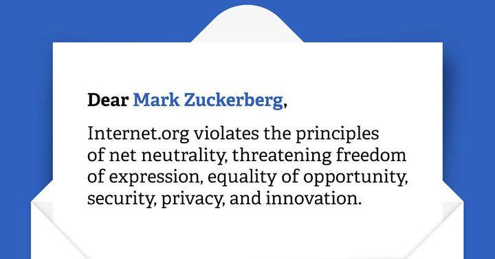 Open Letter to Mark Zuckerberg Regarding Internet.org, Net Neutrality, Privacy and Security