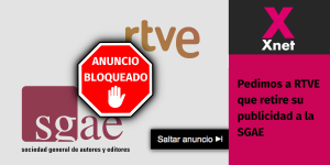 (Es) Pedimos a RTVE que retire su publicidad a la SGAE