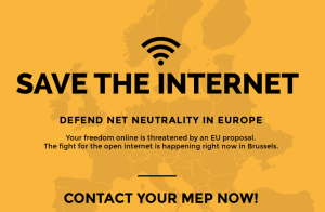 European citizens mobilize to save Internet