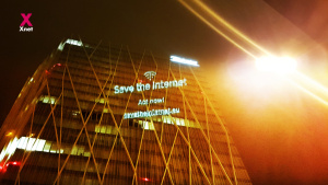 Save the Internet on Telefonica's HQ