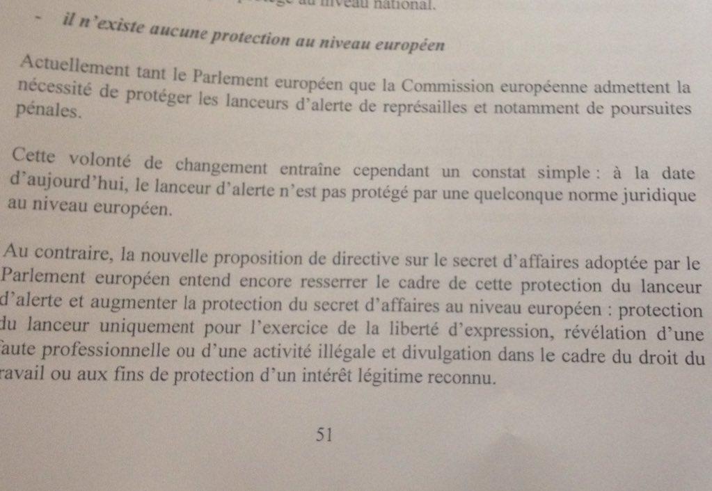 Directiva UE Secretos Comerciales utilizada contra Deltour y Halet
