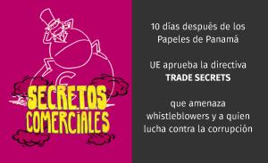 (Es) Xnet denuncia que hoy Parlamento Europeo ha aprobado Trade Secrets contra alertadores de corrupción y abusos