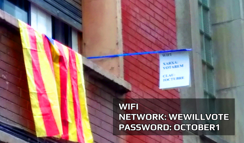 Digital repression and resistance during the #CatalanReferendum