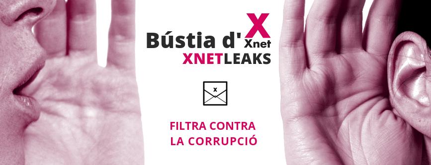 Bústia d'Xnet per denunciar casos de corrupció - XnetLeaks